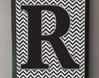 Letter/typography/initial monochrome print (without frame)