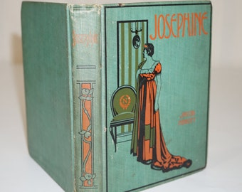1903 Art Deco Antique Book / History of Josephine Jacob Abbott / 1800 Art Deco Antique Novel / Art Deco Book / Beautiful Art Deco Print 1903