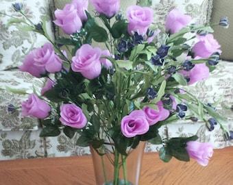Two Dozen Purple Flower Silk Arrangement