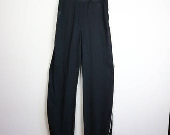 Vintage DOLCE AND GABBANA High-Waisted Sheer Trousers