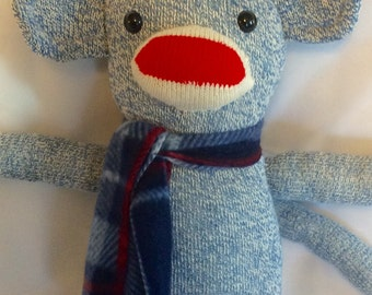 Original Red Heel Sock Monkey - Blue