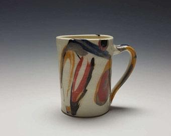 "Handmade ceramic mug by Potteryi.  Coffee mug with Korean word 사랑, meaning ""love""."