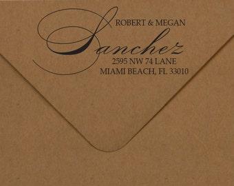 Elegant Address Stamp, Return Address Rubber Stamp, Elegant Address Stamp