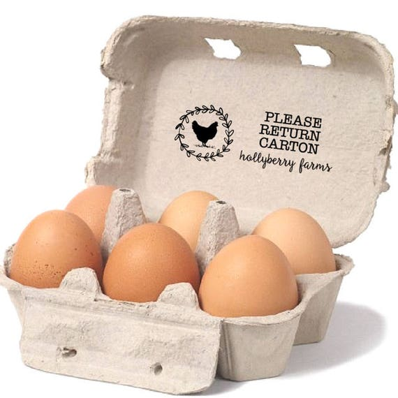 Egg carton return label please return carton stamp custom for Design your own egg boxes