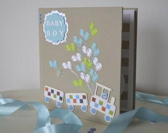 Baby photo album, Baby boy photo album, Baby photo book, Baby memory book, Baby shower gift, Baby first album, Christening gift
