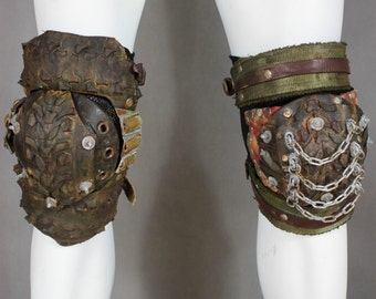 Biker Gear Knee Guard - Post Apocalyptic Armor - Juggernaut Knee Pads -  Wasteland Knee Pads - Fallout Cosplay