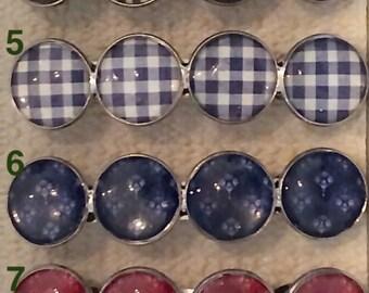 Barettes/ 20 mm / set of 1 or 2 / different patterns