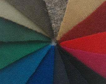 Wool fabric samples