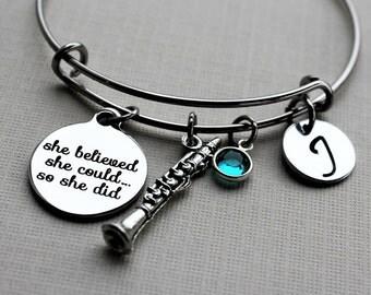 clarinet bracelet, personalized clarinet bracelet, clarinet player gift, clarinet bangle, clarinet charm bracelet, clarinet gift, clarinet
