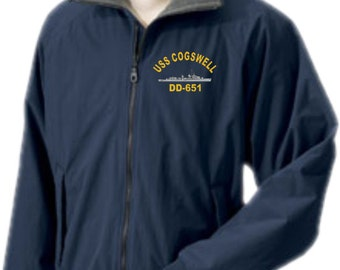 USS COGSWELL DD-651  Embroidered Jacket   New