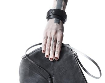 Leather clutch 013Y - black