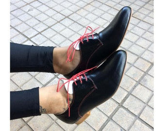 Derby inspired in Hannover Leather Shoes, Handmade WOMEN Shoes, women shoes, Leather shoes, women dress shoes, Lace up shoes, spring