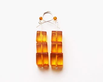 Natural baltic amber earrings 9,3g