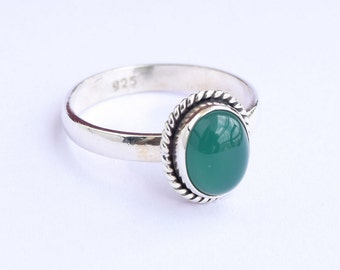 Green onyx Ring, Green Stone Ring, Silver Ring, Solid Sterling Silver Ring, Sterling Silver Ring,size 3 4 5 6 7 8 9 10 11 12 13