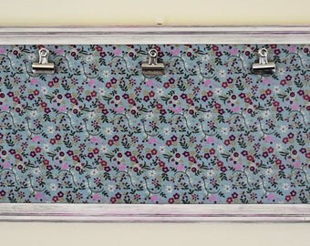 """One-of-a-Kind White Display Frame with Floral Background - For Three 5""""x7"""" Photos"""
