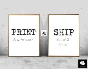 Print and Ship any Artwork Set of 2 Prints Abstract Art Prints Minimalist Posters Geometric Art Large Abstract Scandinavian art Kids Prints