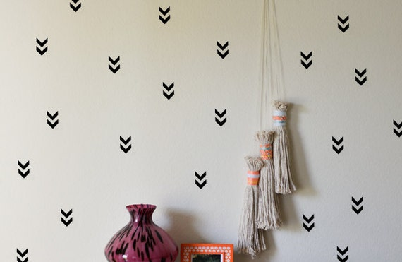 50 Arrow Wall Stickers, Geometric Wall Decal, Chevron Wall Decal, Arrow  Sticker, Nursery Wall Decor, Removable Wallpaper, Kids Room Decal From  CutOutArts On ...