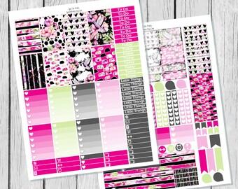 Tropical Evening Planner Sticker Happy Planner Printable / Happy Planner Stickers / Printable Planner Stickers / Spring Planner Stickers