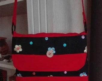 Small shoulder bag flowers