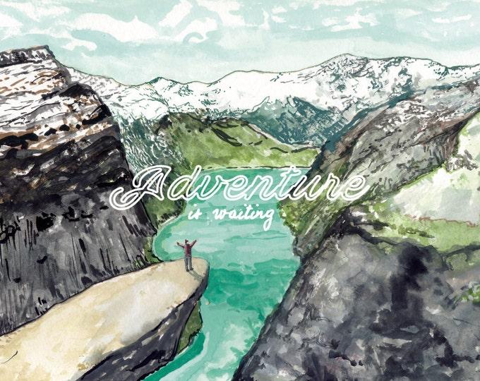 Adventure Is Waiting Trolltunga Print