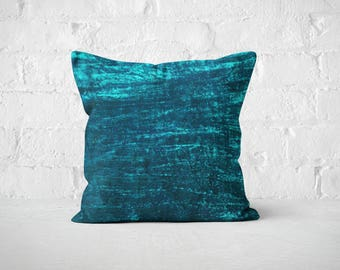 Teal Velvet Pillow Cover | Throw Pillow | Wedding Decor | Plush Dorm Throw Cushion | Luxury Pillow Sham | Decorative Pillow