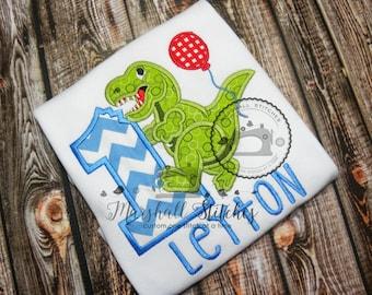 Boy's 1st Birthday Dinosaur T-Rex Birthday Shirt/ Boy's T-Rex Dinosaur Birthday Shirt/ 1st Birthday Dinosaur shirt