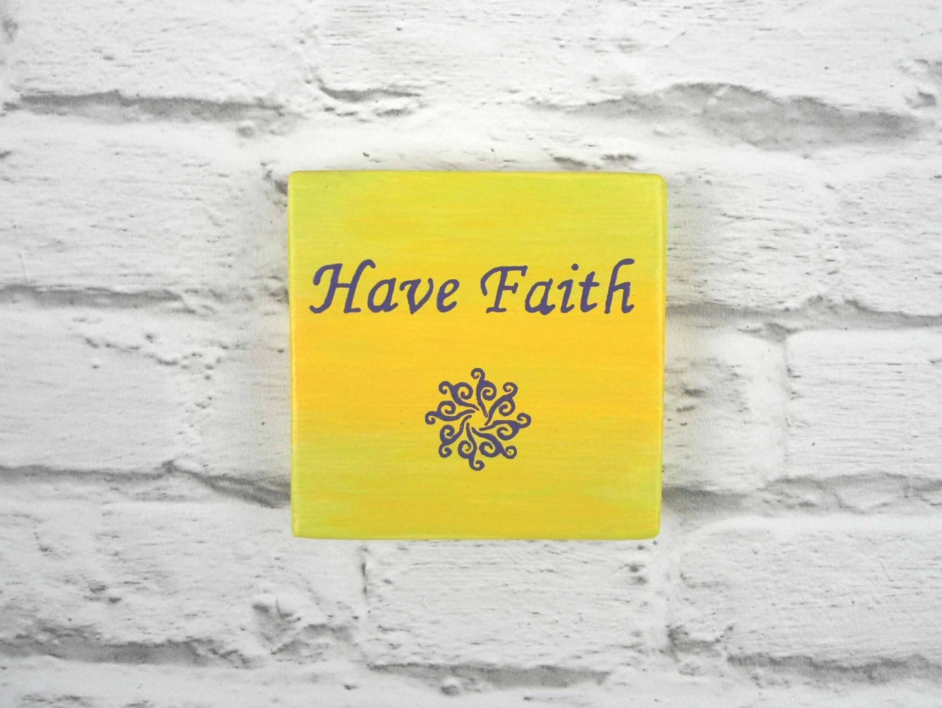 Have Faith wooden plaque - inspirational quote wall art - religious ...