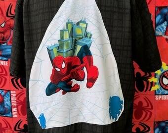 Spiderman Shirt- Spiderman Tee Shirt- Super Hero Shirt- Comic Shirt- Geek Shirt- Nerd Shirt- Vintage 2007 Marvel Fabric- Eco- Size XL