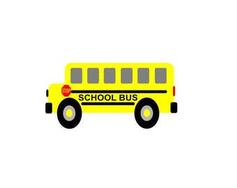 School bus, Back to School, Design file, SVG, DXF, EPS, cutting files, Silhouette Studio and Cricut Design space.