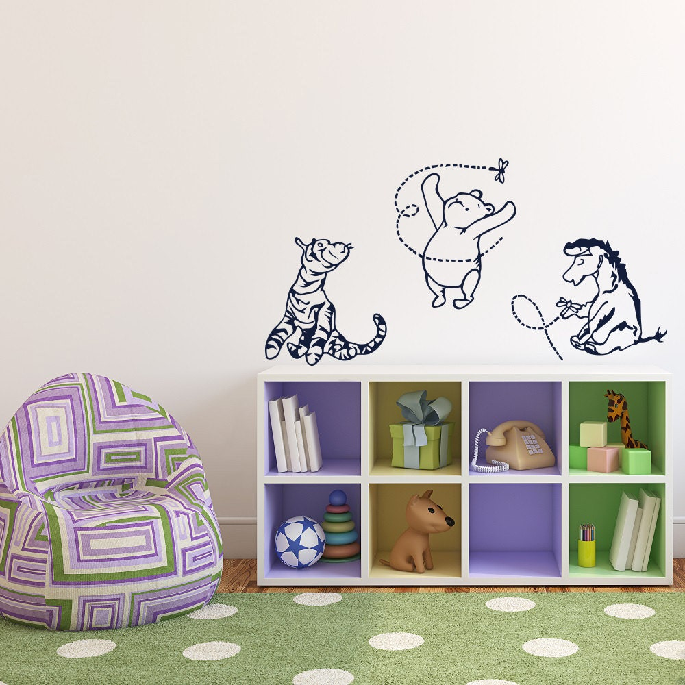 Winnie the pooh wall decal classic winnie the pooh tigger for Classic pooh mural