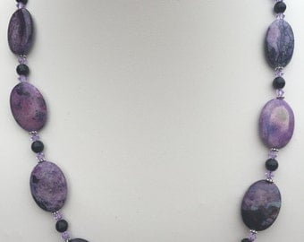 Purple (dyed) Turquoise Necklace