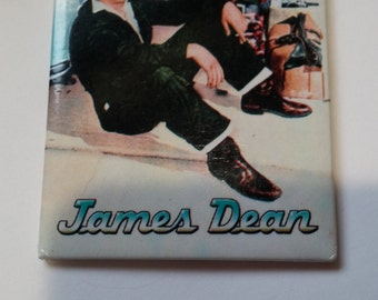 James Dean  w Car Fridge Magnet 1950s Sex Symbol Movie Star Photo Celebrity Picture