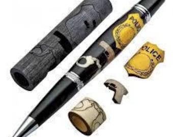Police Laser-Cut Inlay Pen