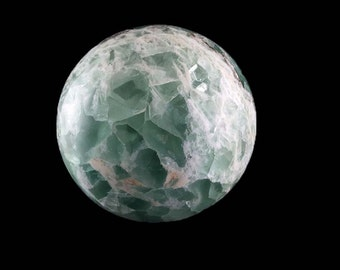 """Fluorite Sphere  4""""  3 lb. 15.7 oz. Outstanding  with Dazzling Patterns A1094"""