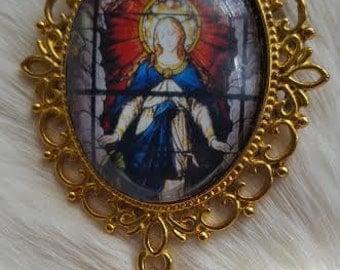 Ave Maria Brooch