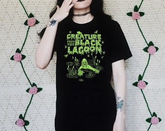 Creature from the Black Lagoon - Classic - Horror - Cult - Kitsch - Graphic - Mens T Shirt - Womens T Shirt - Tank Top - Crop Top - Sweater