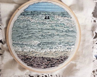 "Custom 5"" or 6"" hoop landscape or seascape embroidery"
