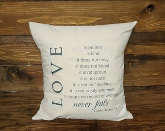1 Corinthians 13 Pillow Cover