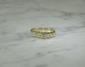 Seven Diamond 14K Gold Ring