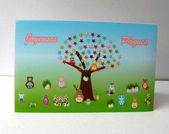 """""""Happy Easter"""" greeting card"""
