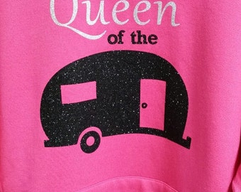 Camping Sweatshirt a must have for the queen of the camper
