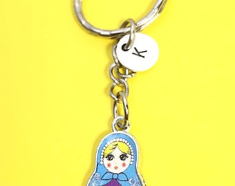Custom, Russian Doll Keychain -set of 2,Keychain Gift,Keychain for 2, Best Friend Gift,Personalized Keychain, Doll Keychain, Gift for Friend