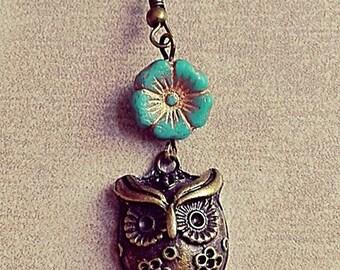 """Vintage earrings handmade """"OWL"""" nickel free"""