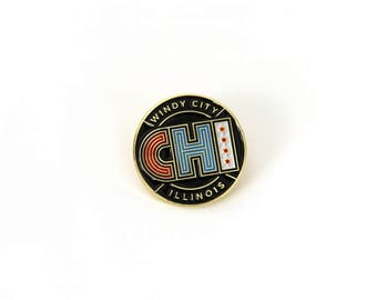 Chicago Enamel Pin