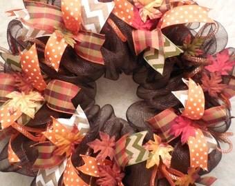 Fall wreath, Wreath, fall Wreaths, Wreath, Fall Wreaths, Wreaths, Happy Halloween wreath, Halloween, Fall wreaths, Mesh