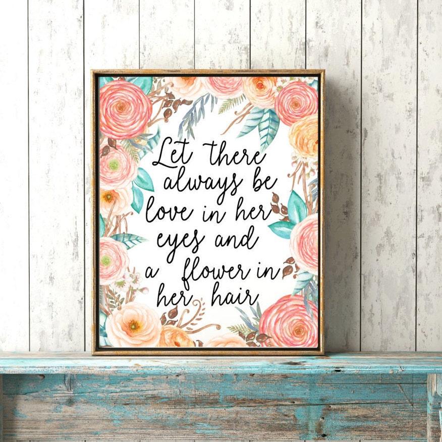 On sale boho baby girl print love in her eyes baby for Baby girl nursery paintings