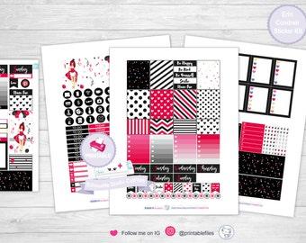 Burlesque planner sticker kit weekly kit planner kit planner stickers printable stickers erin condren life planner stickers planner kit