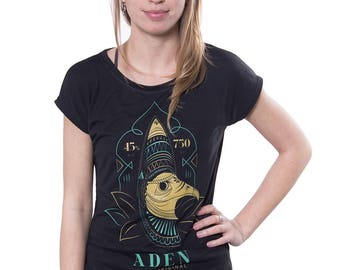 Women's Graphic Poly-Cotton T-shirt by Gelada - Yemen Aden Well Travelled Series  - Urban Apparel - FREE SHIPPING