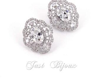 Wedding Earrings Zirconia Earrings Wedding Jewelry Bridal Earrings Bridesmaid Gift Wedding Jewelry Bride Earrings Bridesmaid Earrings