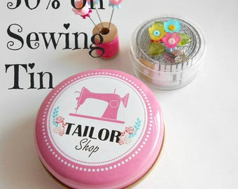 Tailor Tin - Button tin - Notions box - Pin Tin - Quilter Gifts - Sewing Box - Seamstress Gifts - Guild Gifts - Quilt Retreat Gifts - Sewing